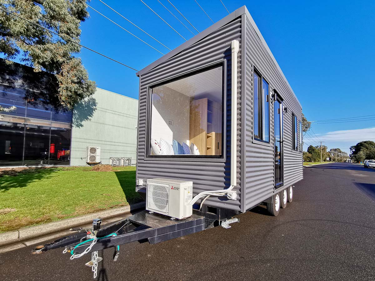 Anchor Tiny House by Hangan Exterior Front Trailer Airconditioning Victoria Australia