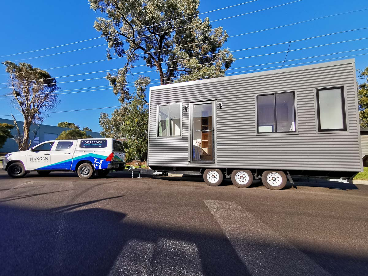Anchor Tiny House by Hangan Exterior Side View Victoria Australia
