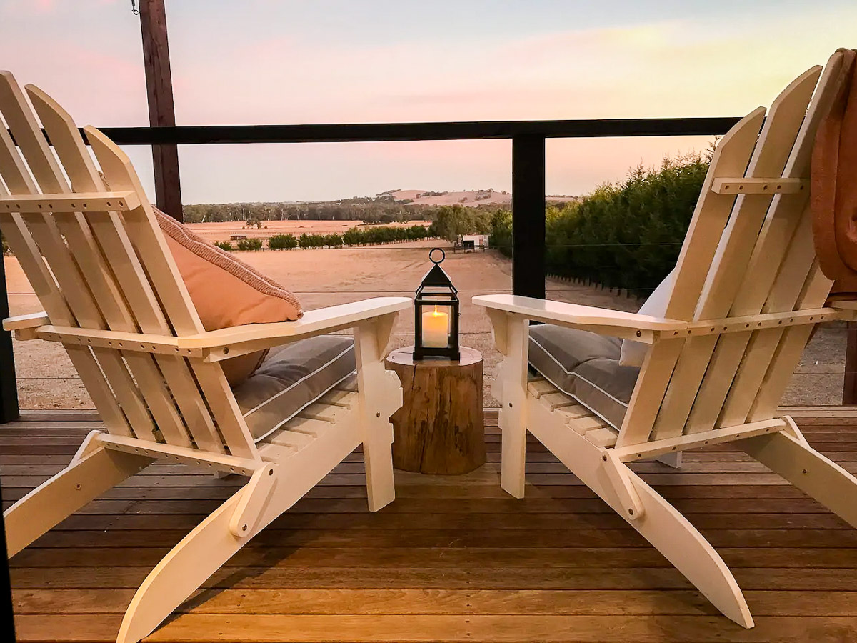 Edgars Mission Tiny House by Hangan Decking Chair View Victoria Australia