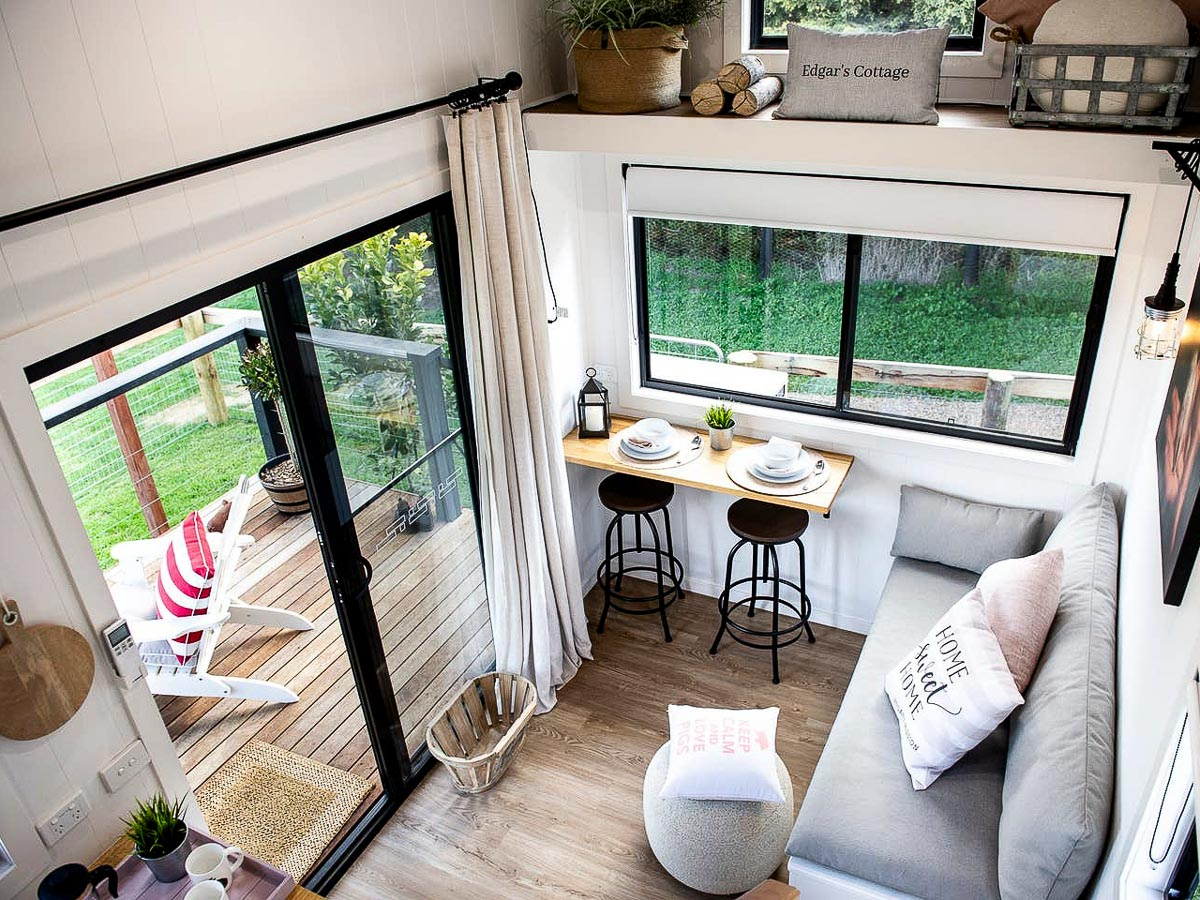 Edgars Mission Tiny House by Hangan Living Space and Deck Victoria Australia