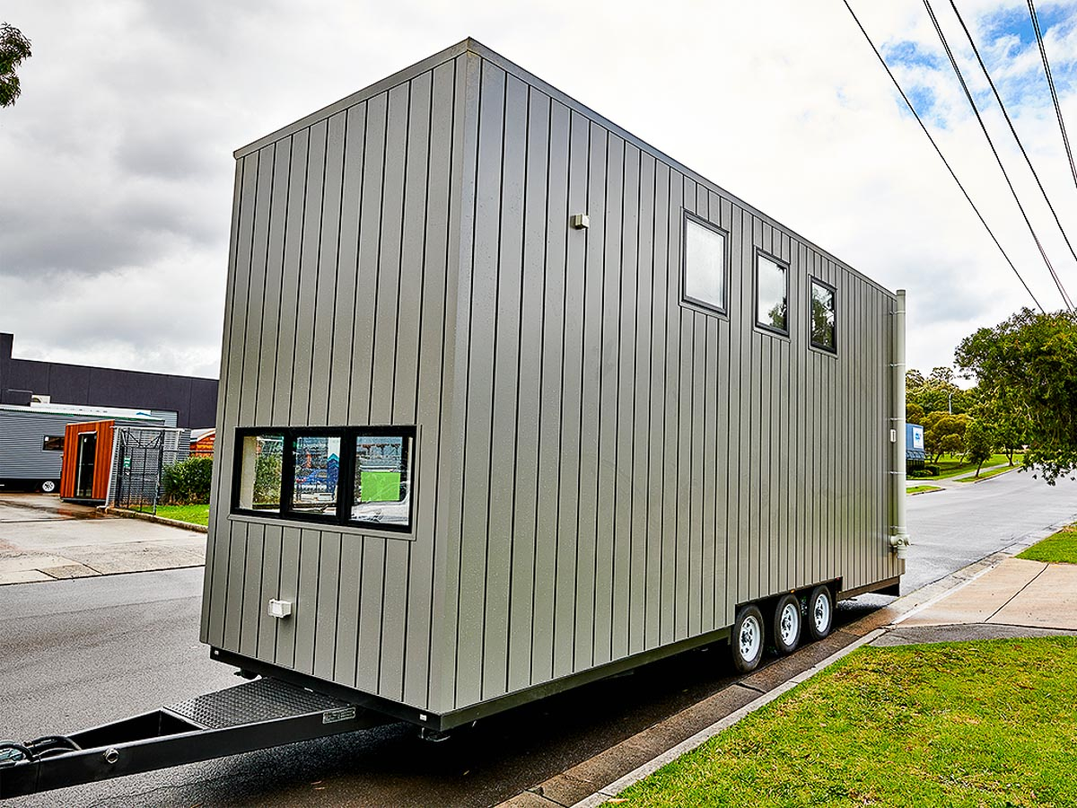 Melrich Tiny House by Hangan Exterior Front and Side Victoria Australia