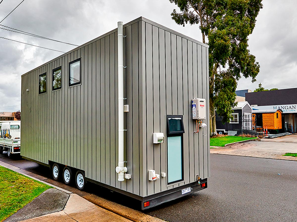 Melrich Tiny House by Hangan Exterior Rear and Side Victoria Australia