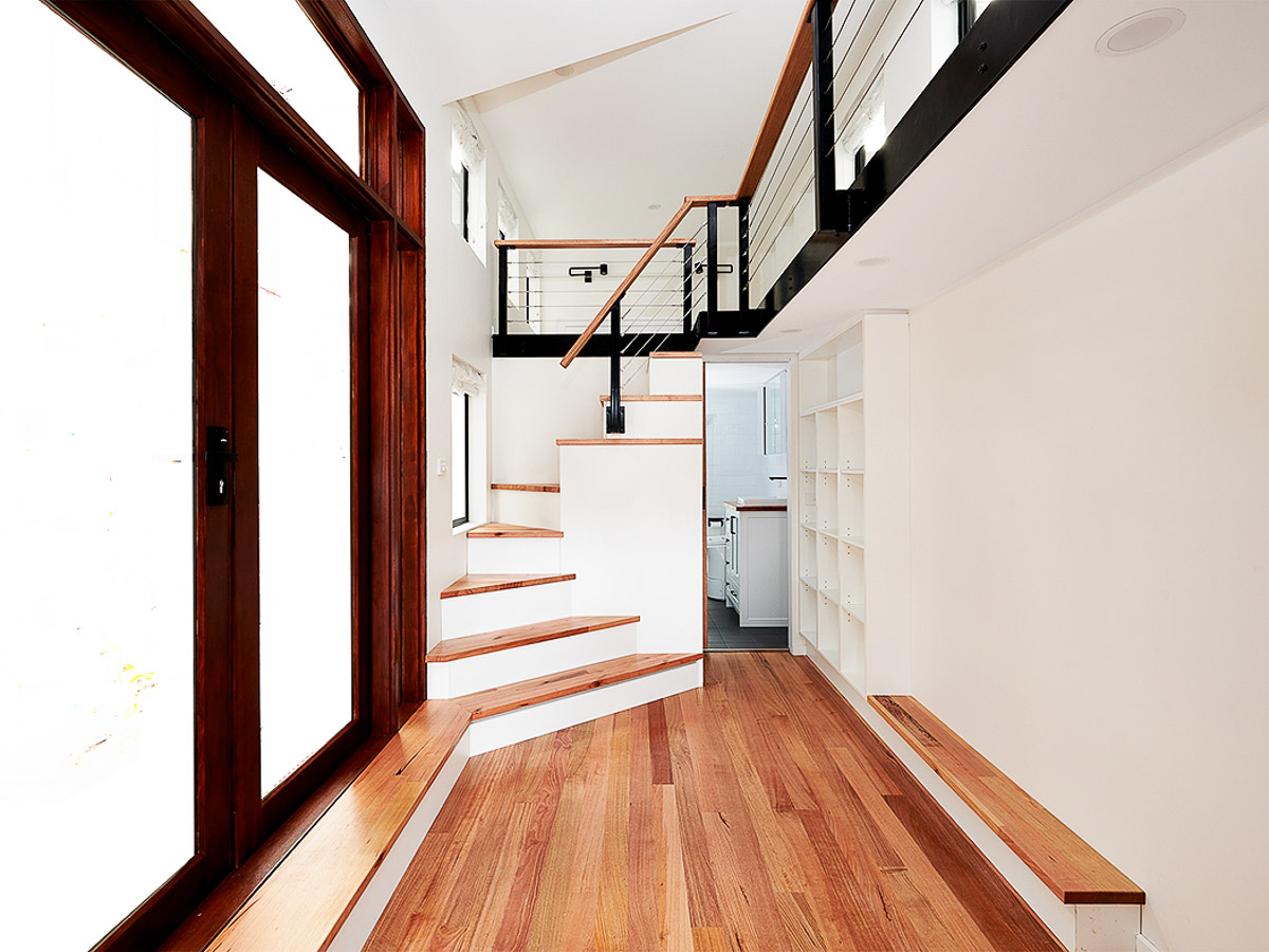 Melrich Tiny House by Hangan Spiral Staircase Victoria Australia